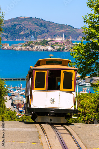 Leinwandbild Motiv San francisco Hyde Street Cable Car California