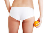 Cellulite woman weight loss control concept