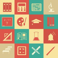 Vector seamless pattern with education icons - abstract