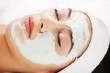 Beauty treatment in spa salon.