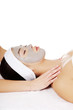 Woman enjoy receiving head massage