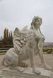 Löwin mit Flügel im Garten von Schloss Belvedere in Wien