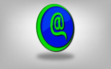 icono arroba blue
