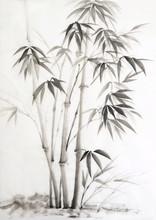 Peinture à l'aquarelle en bambou