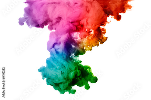 Rainbow of Acrylic Ink in Water. Color Explosion - 60402232