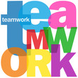 """TEAMWORK"" Letter Collage (management goals targets performance)"