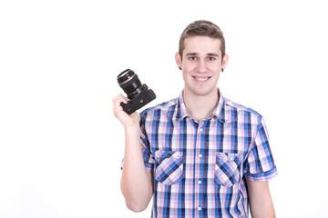 Man held his camera