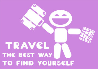 motivational quote - travel the best way to find yourself