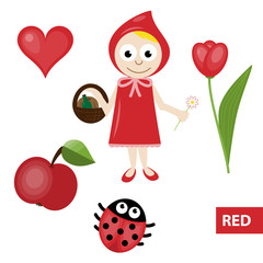 Learning colors – red