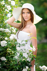 portrait of a beautiful girl in nature