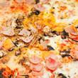 italian pizza with mushrooms and ham - 60403421