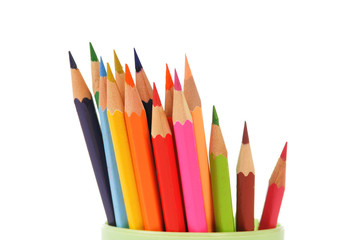 Colorful pencils closeup