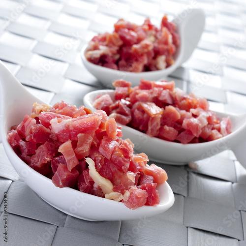 chopped spanish serrano ham