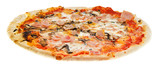 italian pizza with mushrooms and ham