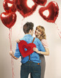Fall in love among lots of balloons