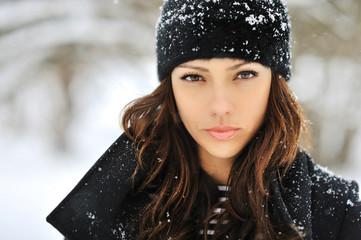 Beautiful woman face - close up