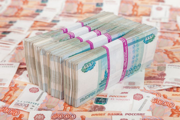Russian rubles bills