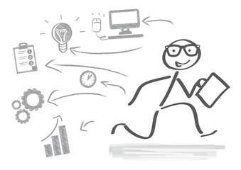 Business in Bewegung, scribble