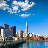 San Francisco downtown from pier 7 California - 60405640
