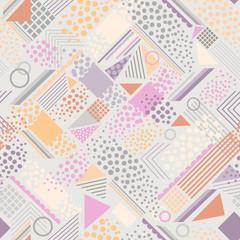 Retro pastel geometric print