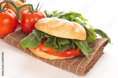panino con pomodoro e rucola