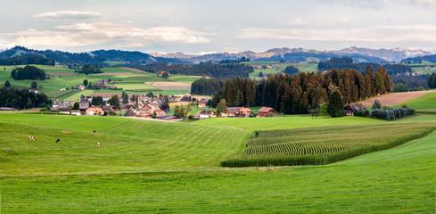 Paesaggio a Gruyere, Svizzera