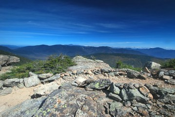 Franconia Ridge in the White Mountains in New Hampshire