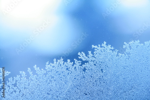 Spoed canvasdoek 2cm dik Textures ice frost window