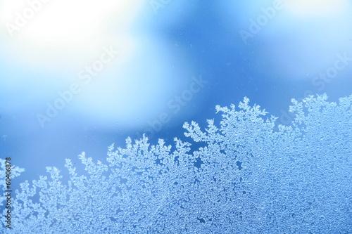 Tuinposter Textures ice frost window