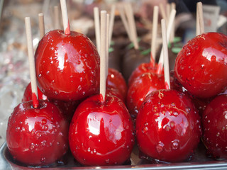 Candied Apples at Vienna Christmas Market
