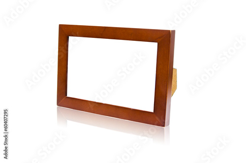 Isolated simple wooden frame