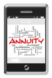 Annuity Word Cloud Concept on Touchscreen Phone poster