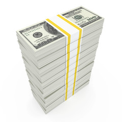 Money Stack, isolated on white