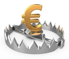 euro crisis concept
