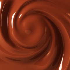 Chocolate cream swirl background