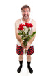 Funny Romantic Guy - Full Body Isolated