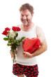 Scruffy Valentines Guy in Underwear