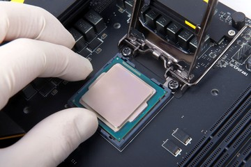 Modern computer processor and motherboard