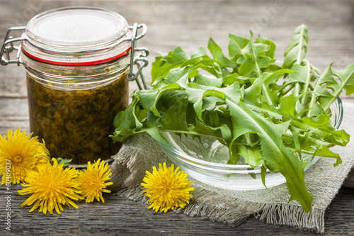Edible dandelions and dandelion jam