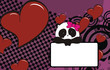 panda baby girl cartoon wallpaper