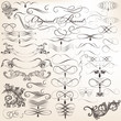 Vector set of decorative vintage elements for design