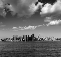 San Francisco skyline in California from Treasure Island