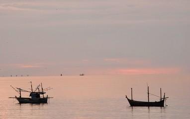 Fish boat at Bankrut Beach