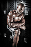 Locker Room Muscle Fitness Man