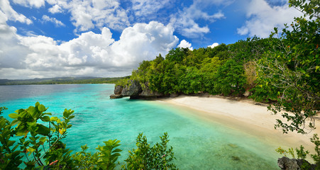 Beautiful lagoon with white sand. Philippines