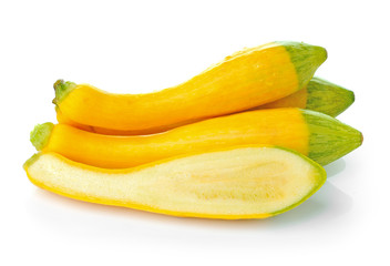Zucchini isolated on a white background