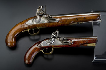 18th Century British Flintlock Pistols.
