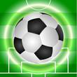 Постер, плакат: футбольный мяч