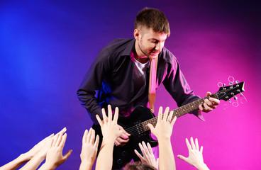 Guitarist singing