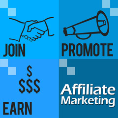 Affiliate Marketing Blue Four Blocks